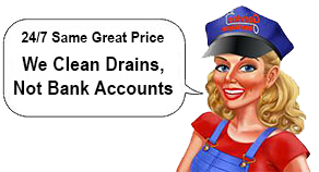 We clean drains, not bank accounts!